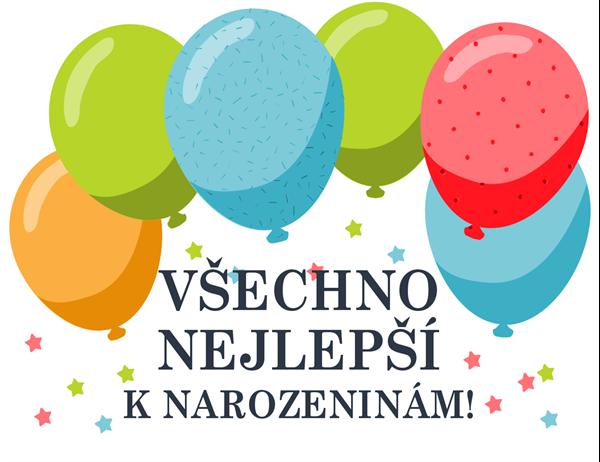 Přání k narozeninám s balonky