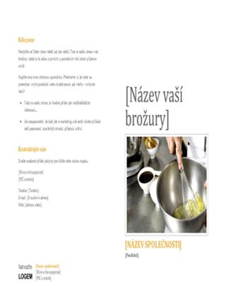Brožura s nabídkou produktů a služeb