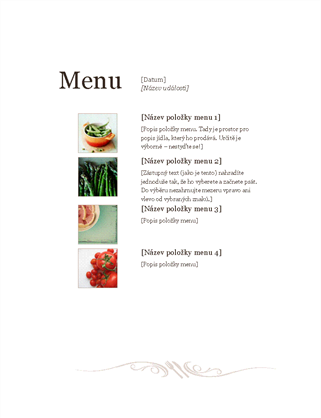 Restaurační menu