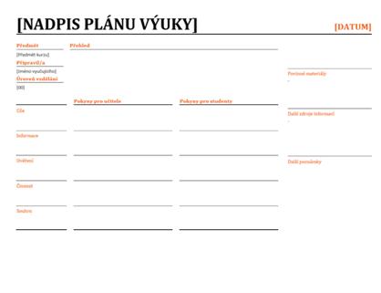 Denní plánování výuky