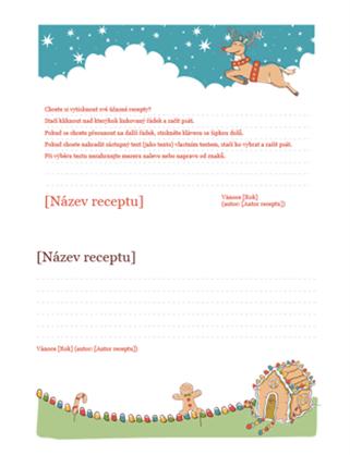 Vánoční pohlednice s recepty