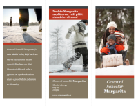 Trojskládanka cestovní brožury (červeno-šedý design)