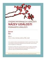Jarní leták (motiv kvetoucí větve)