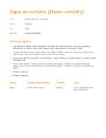 Zápis ze schůzky (oranžový design)