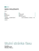 Titulní stránka faxu (motiv s tečkami)