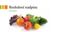 Prezentace s čerstvými potravinami (širokoúhlá)