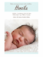 Oznámení narození chlapečka