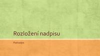 Prezentace v zemitých odstínech (širokoúhlá)