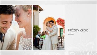 Svatební fotoalbum – stříbrný návrh v barokním stylu (širokoúhlý)