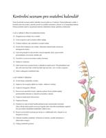 Seznam úkolů na svatbu (akvarel)