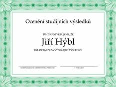 Ocenění studijních výsledků (formální zelený okraj)