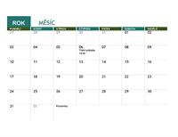 Školní kalendář (libovolný rok)