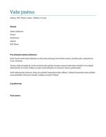 Průvodní dopis (modrý)