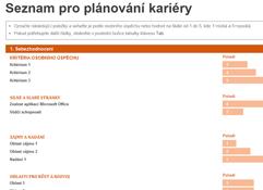 Seznam pro plánování kariéry