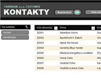 Seznam kontaktů na zákazníky