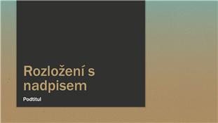 Prezentace s modro-béžovým přechodem (širokoúhlá)