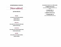 Elegantní menu