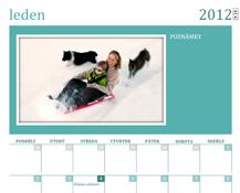 Měsíční kalendář s rodinnými fotografiemi