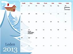 Ilustrovaný kalendář na rok 2013 s motivy ročních období (po-ne)