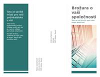 Třídílná brožura (modrá)