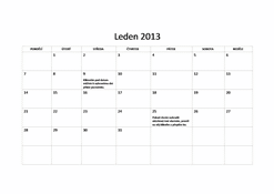 Základní kalendář na rok 2013 (P–N)