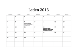 Klasický kalendář na rok 2013 (P–N)