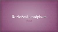 Růžová květinová prezentace v žakárovém vzoru (širokoúhlá)