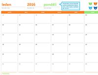 Kalendář po měsících na libovolný rok (12 stránek, design Duhoví medvědi)