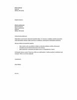 Průvodní dopis k odpovědi na inzerát, krátký