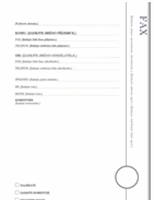 Titulní stránka faxu (návrh Arkýř)