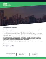 Obchodní dopis (design Zelený les)