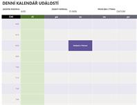 Denní kalendář událostí
