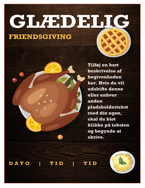 Løbeseddel til Friendsgiving
