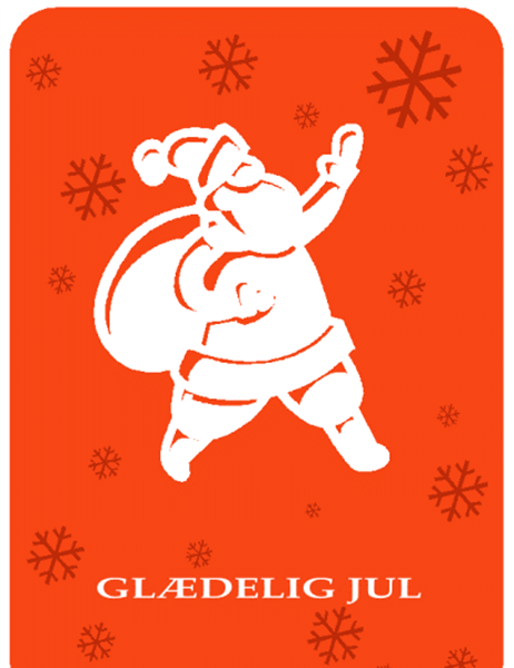 Julekort (med billede af julemanden)
