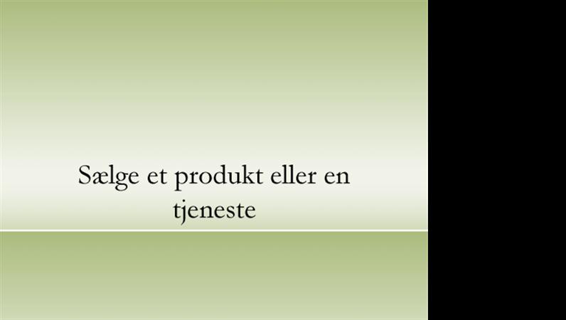 Præsentation af et produkt eller en tjeneste