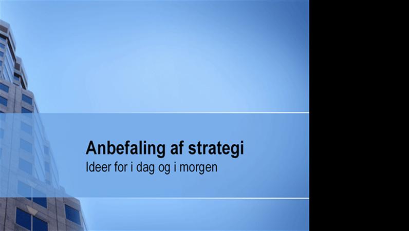 Præsentation til strategianbefaling