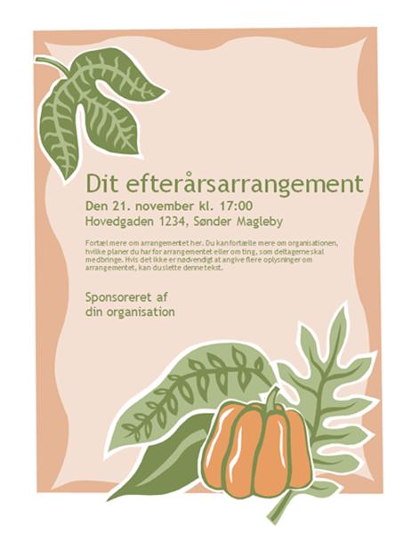 Brochure til efterårsarrangement (med græskar)
