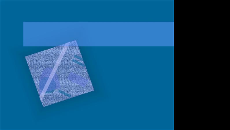 Blå bølger, designskabelon
