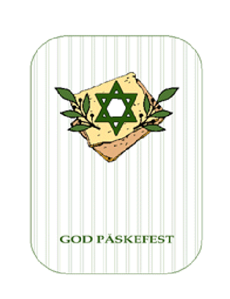 Påskefestkort (med davidsstjerne)