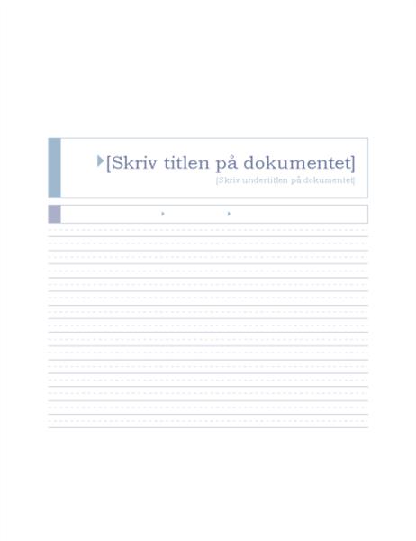 Rapport (temaet Oprindelse)