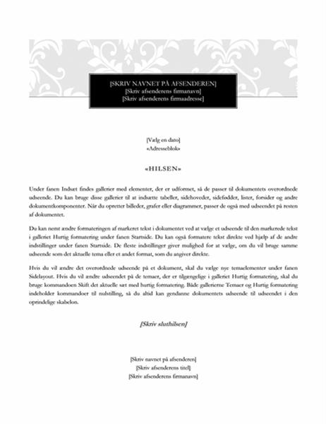Flettebrev (designet Sort slips)