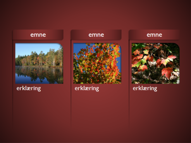 SmartArt-grafik med billeder på rød baggrund
