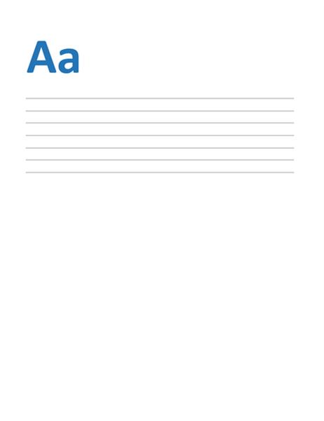 Enkelt linjeafstand (tom)