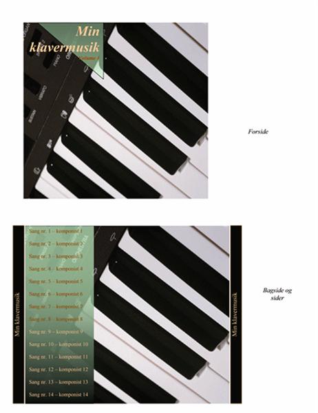 Cd-indlæg (design med klavermusik)