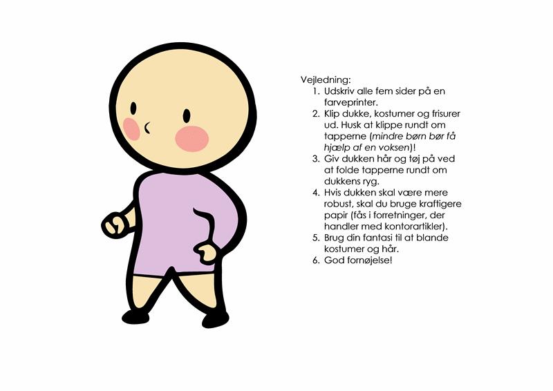 Påklædningsdukker (pige, sæt 3)