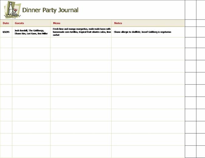 Middagsselskab - oversigt