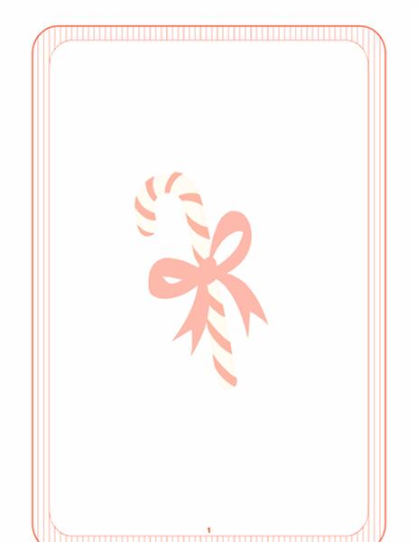 Julebrevpapir (med vandmærke med bolsjestang)
