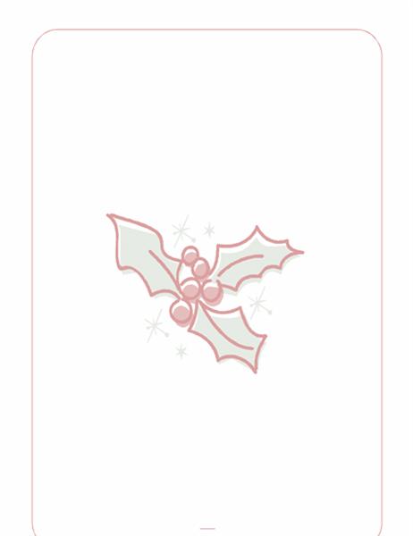 Julebrevpapir (med vandmærke med kristtjørneblad)