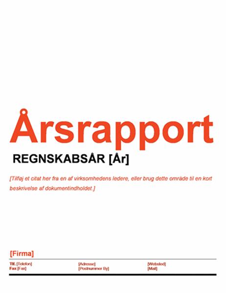 Årsrapport (designsættet Rødt og sort)