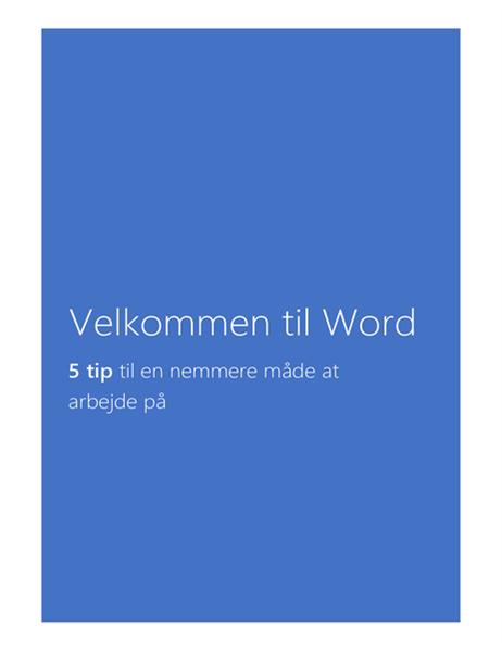 Velkommen til Word 2013